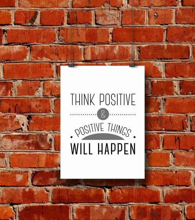 "Plakat  ""Thing positive"""