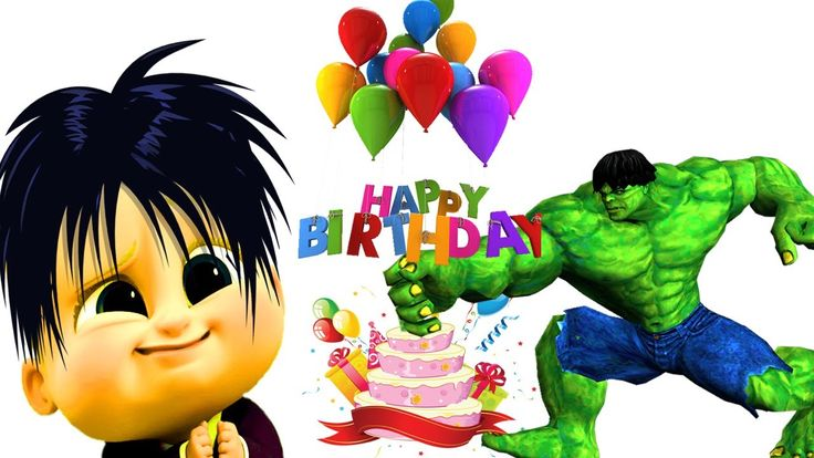 Bad Baby Boss Happy Birthday Song For Children Superheroes Learn Colors ...