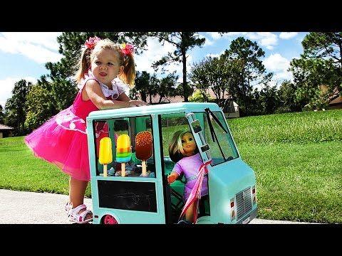 ✿ Автобус МОРОЖЕНОЕ магазин 🍨 для Куклы AMERICAN GIRL автобус doll bus ice cream shop ice cream    {{AutoHashTags}}