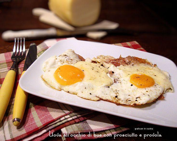 Uova all'occhio di bue con prosciutto e provola http://blog.giallozafferano.it/graficareincucina/uova-allocchio-di-bue-con-prosciutto-e-provola/