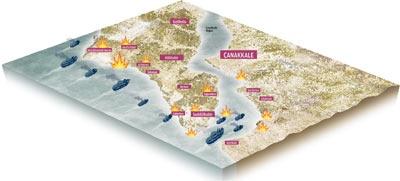 Çanakkale Zaferi'nin 98. yıldönümünde muhteşem İNFOGRAFİK Çanakkale geçilmez gezilir! - ZAMAN