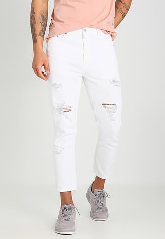 Relaxed fit jeans - white denim