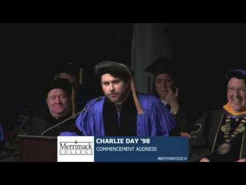 Actor Charlie Day Commencement Speech Merrimack College Andover http://gawker.com/charlie-day-advises-graduates-to-not-give-a-shit-in-com-1579296766