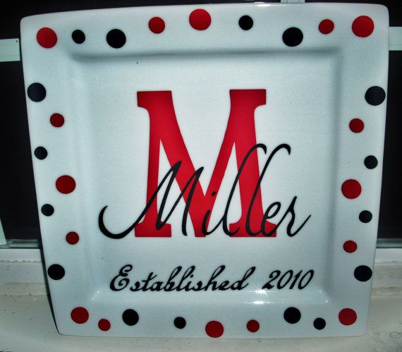 Personalized keepsake wedding platesGreat bridal by stacyfinch, $21.00