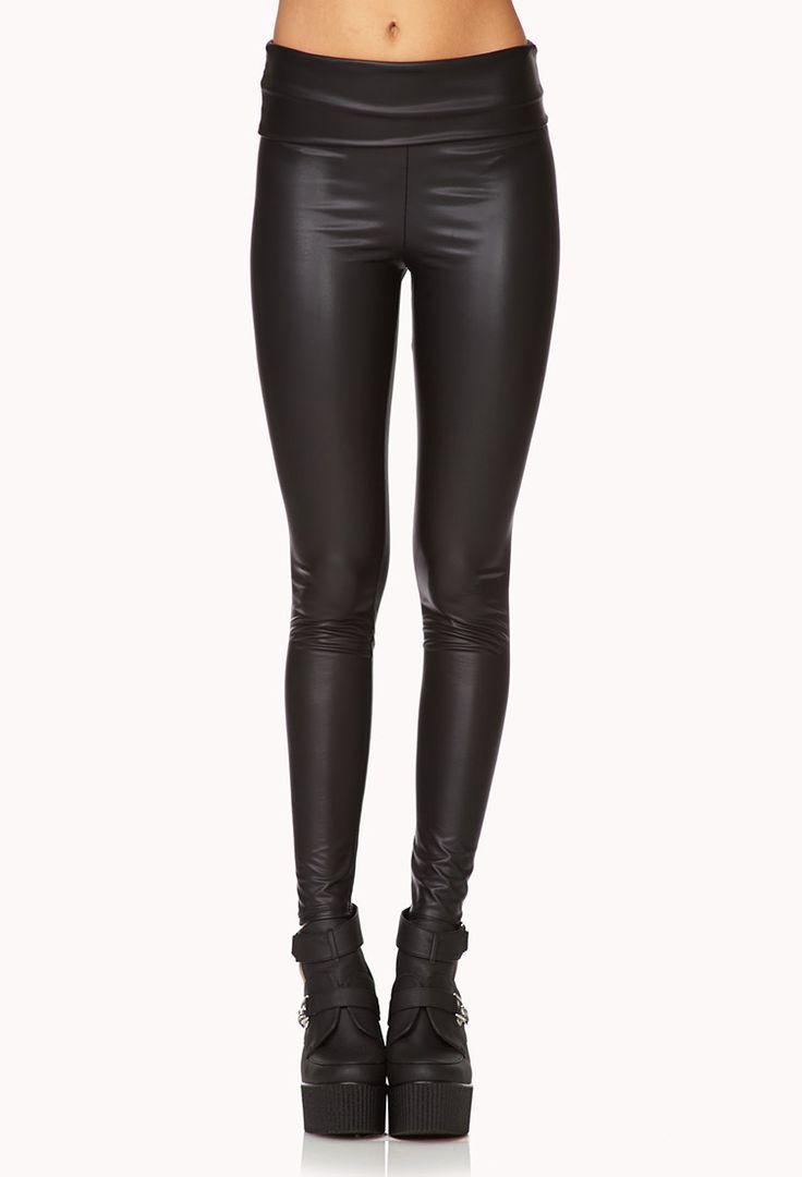 Retro Faux Leather Leggings   FOREVER21 - 2079054768 Cat Woman Costume DIY