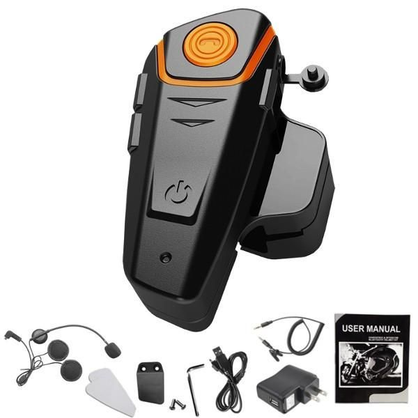 STEALTH® BT - S2 1000m Hands Free FM Waterproof Motorcycle Helmet Intercom Headset. The Inter Phone is a Bluetooth Headset designed for the motorcycle rider and