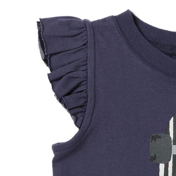 袖フリルつきスケートボードプリントTシャツ - ノースリーブ/キャミソール|petit main(プティマイン) 公式通販 - ナルミヤオンライン