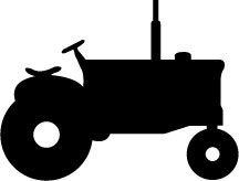 Old Time Tractor Shadow Pattern. Make a print for Logan's room?