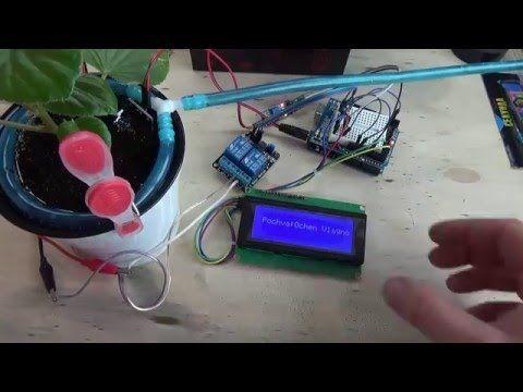Автоматический полив растений на Arduino UNO - YouTube