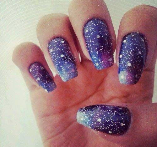 Galaxy Nail Polish Design: 33 Best Images About Galaxy Nails On Pinterest