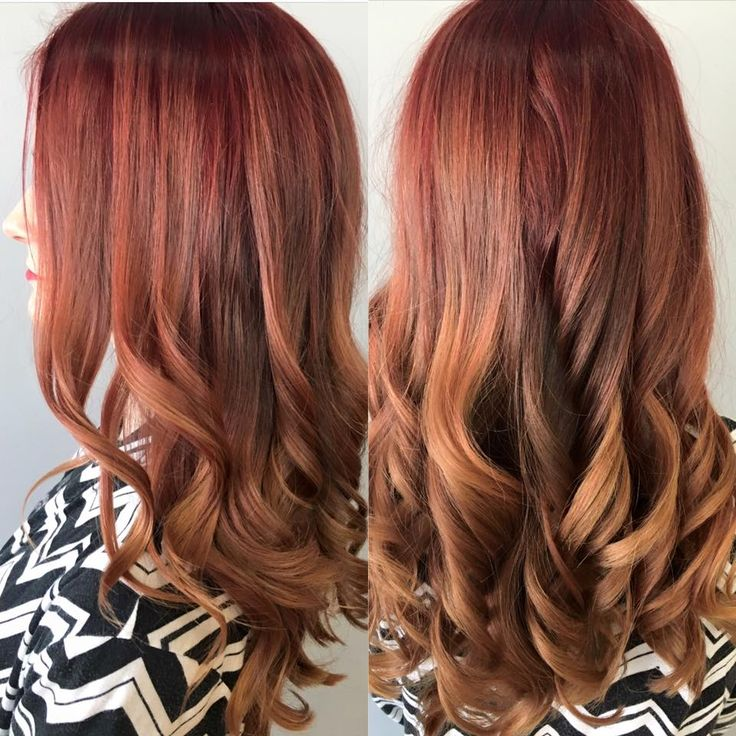 This red ombre though #red #ombre #longhair #haircolor #hairgoals
