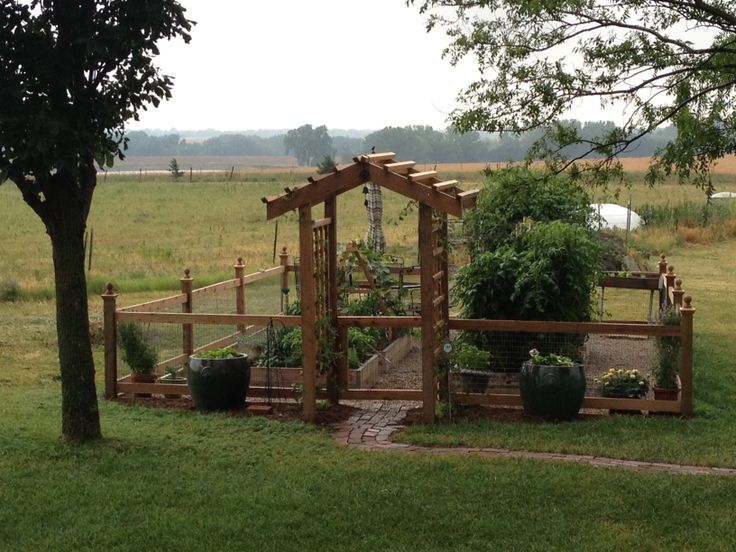 Fenced Garden! This Would Be So Cute In My Backyard Someday!