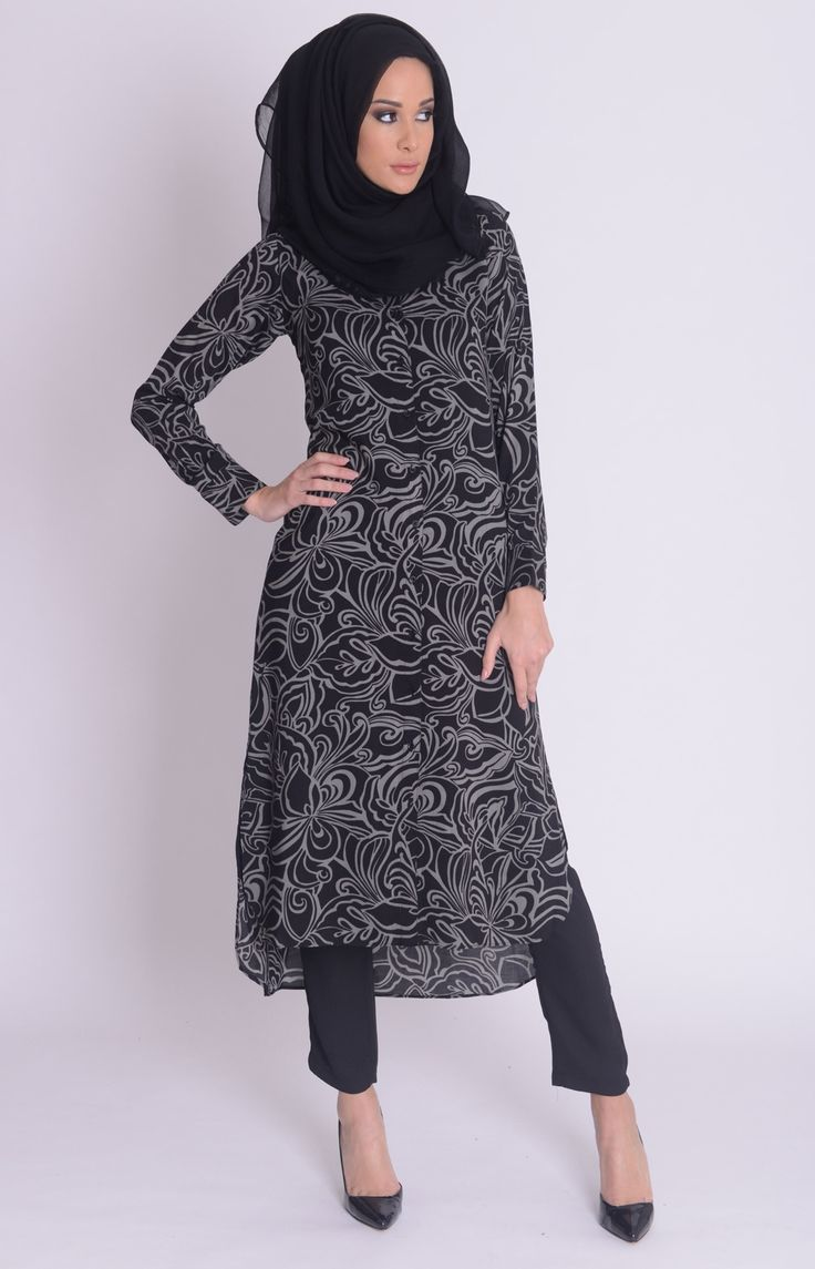 Autumn Swirls Shirt Dress #WhatsNew #New Arrivals #Aab #Style #Fashion #Abaya #Hijab #Modest http://www.aabcollection.com/shop/product/autumn-swirls-shirt-dress/724#
