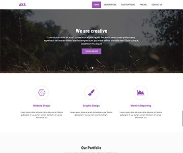 aka is a responsive bootstrap html one page template expand is standards for personal portfolio