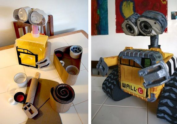 Wall e robot made from recycled materials recycled for Make something out of recycled materials