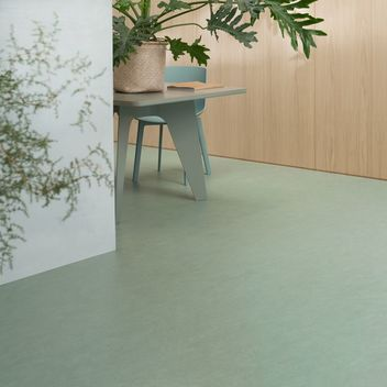 Forbo linoleum floors with the Marmoleum brand are made from natural raw materials. This makes Marmoleum the most sustainable flooring choice.