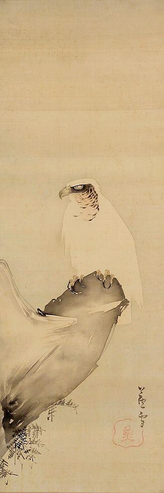 Nagasawa Rosetsu (1754-1799)《Eagle on a Cliff》Painter of Japanese. Edo period 長沢芦雪, 長沢蘆雪 (1754-1799), 日本