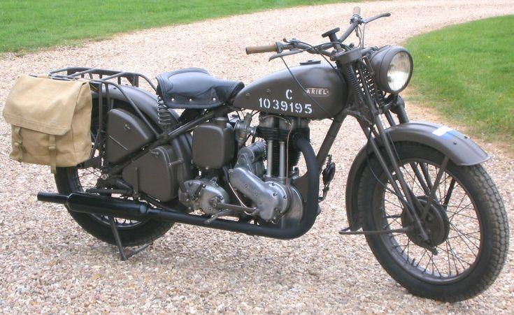 1942 Ariel WNG 350cc Overhead Valve Ex Army motorcycle