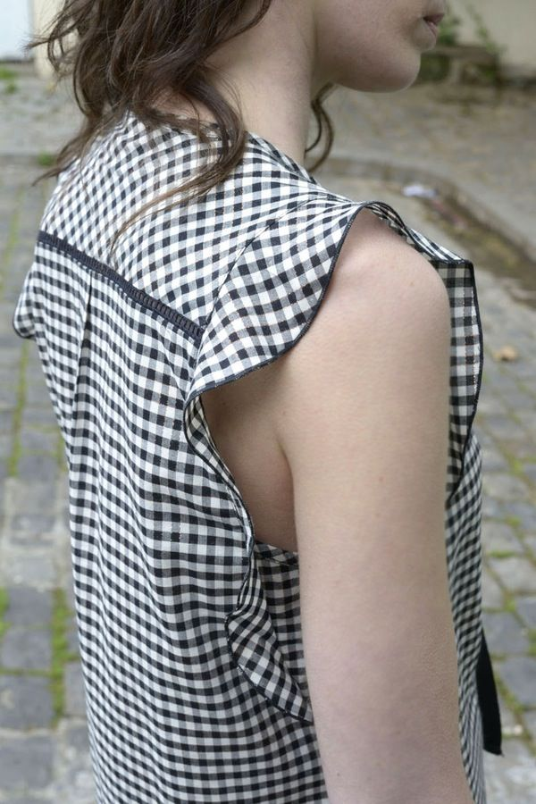 Robe Léonie vichy - MAISON BRUNET - http://maisonbrunet.com/product/robe-leonie-vichy?ref=category-femme #robe #dress #vichy #gingham #femme #women #ss16 #details #madewithlove #conçuaparisavecamour