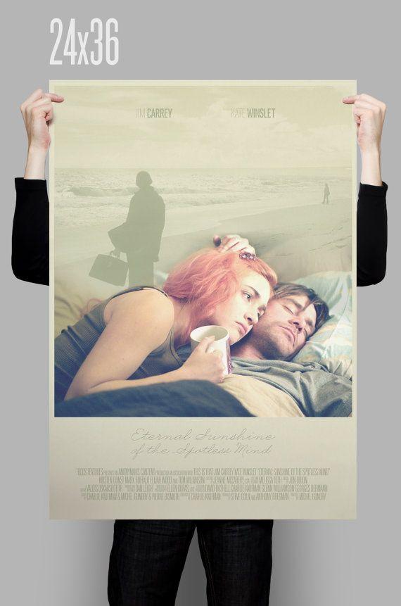 Eternal Sunshine of Vergiss mein nicht-Plakat / / Jim Carrey /