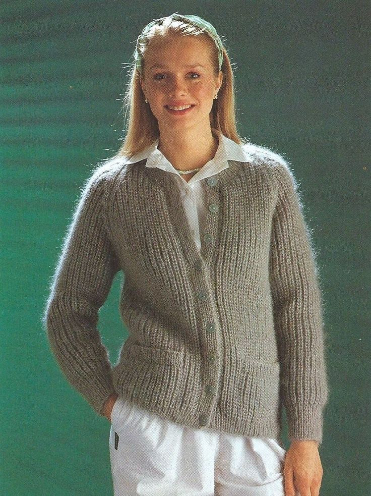 "KNITTING PATTERN LADIES FISHERMANS RIB CARDIGAN 34""-40 ..."