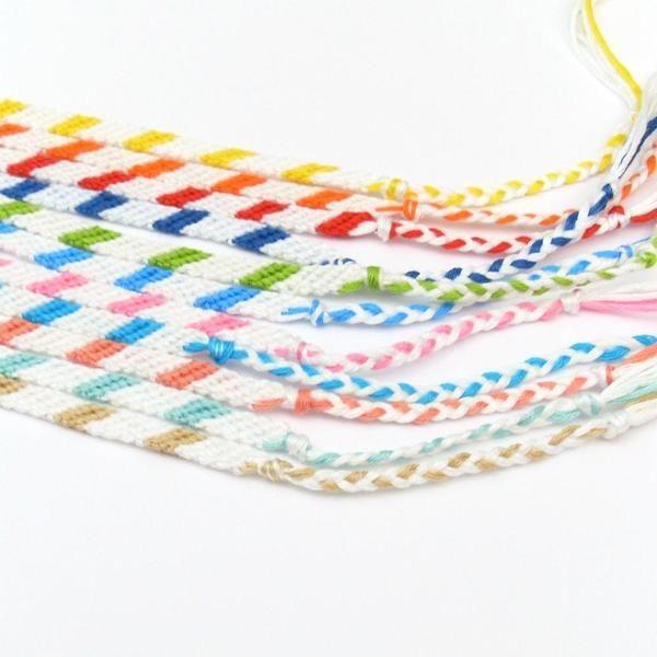 Two Color Braided Beach Bracelets Goruntuler Ile Bileklik