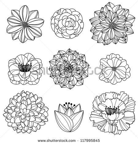 Best 25 Hand Drawn Flowers Ideas On Pinterest Wall Drawing Doodle And Painted Murals
