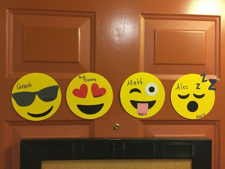 RA door decs emojis                                                                                                                                                     More
