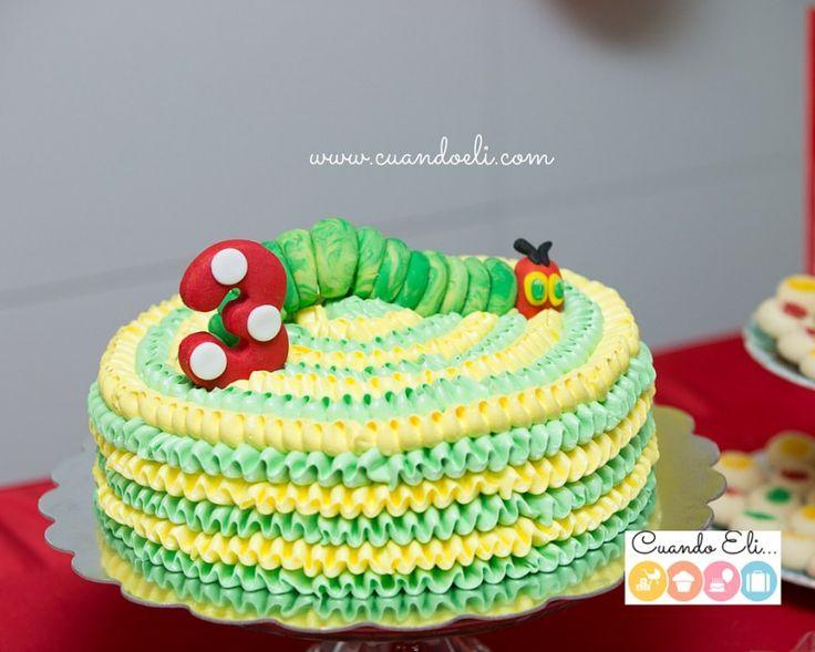 Fiesta Infantil La Oruga Muy Hambrienta, bizcocho, the very hungry caterpillar cake