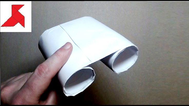 Как сделать детский БИНОКЛЬ своими руками из бумаги А4?