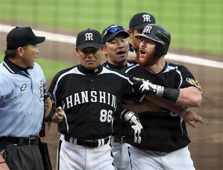 黒マートン。 Matt Murton (Hanshin Tigers) #hanshin #tigers #阪神タイガース