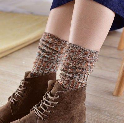 2016 Fashion Long Warmer Socks Women Cotton Winter Ethnic Loose Socks Harajuku Soft Piles Socks calcetines de las mujeres