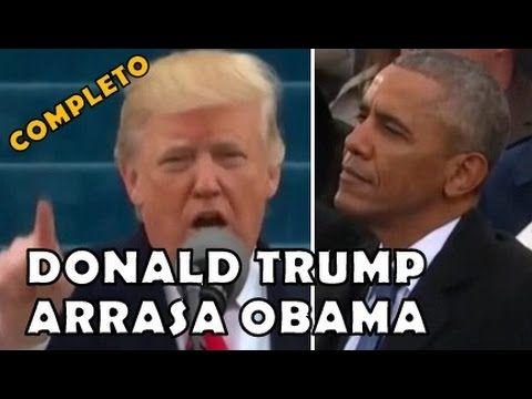 Donald Trump arrasa Obama na cara dele em discurso como presidente dos EUA