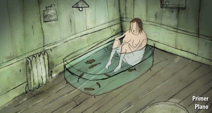 Mejor cortometraje británico animado - #SleepingWithTheFishes