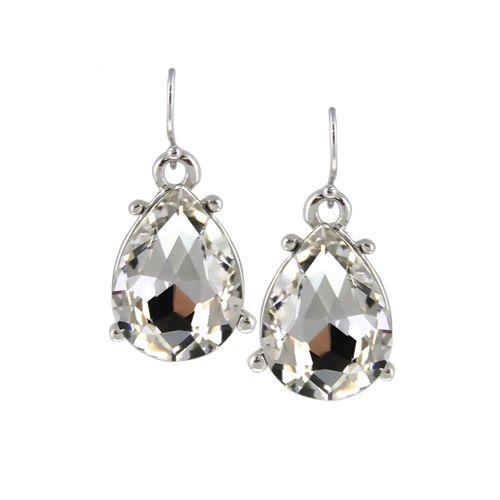 Luxury Elegant Fashion Women Ethnic Shiny Crystal Water Drop Pendant Statement Hook Drop Earrings Jewelry For Wedding