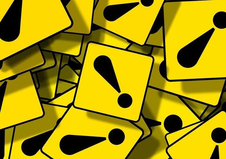 Warning, Exclamation Point, Black, Brand, Yellow