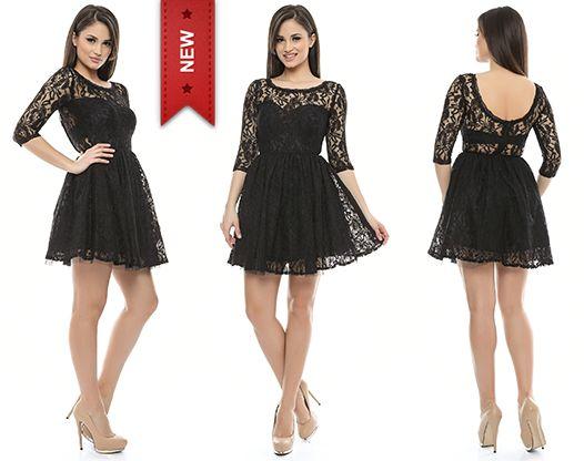 În stocul magazinului Adrom Collection a sosit această rochie din dantelă cu tul. Aceasta se poate achiziționa în sistem en-gros accesând link-ul: http://www.adromcollection.ro/rochii-angro/rochie-angro-425