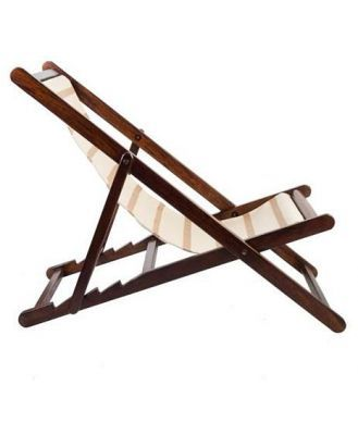TIPI Interiors Beige and White Stripe Deck Chair