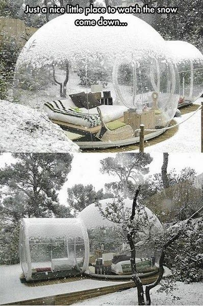 Would love to cuddle in here with a cute boy and watch the snow fall!