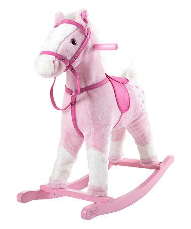 Awesome Loving this Pink Plush Rocking Horse on zulily zulilyfinds