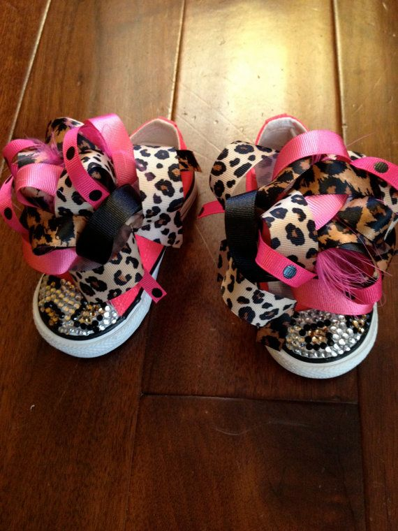 Custom Pink Leopard Converse Shoes by StageMomsONLY on Etsy, $75.00