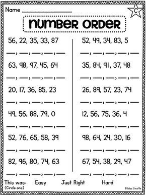 first grade math unit 11 comparing numbers skip counting and number order grade 2 worksheets. Black Bedroom Furniture Sets. Home Design Ideas