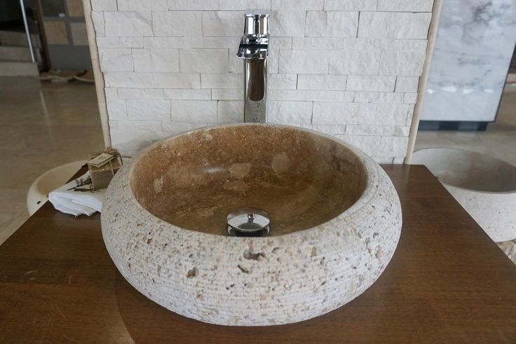 Podima Noce Sink (DLT753) #naturalstone #sink #travertinesink #bathroomdesign