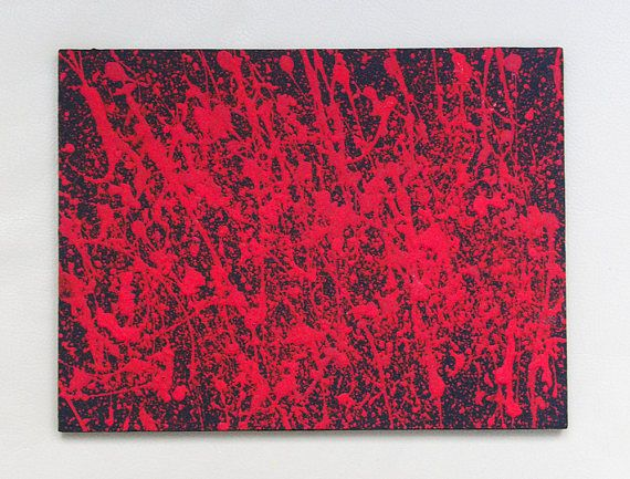 Abstract Painting Modern Original Art Acrylics on Wooden