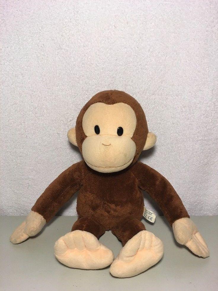 Curious George Monkey Plush 17 Inch Stuffed Animal w/ Beanie Stuffing, So Cute #Applause