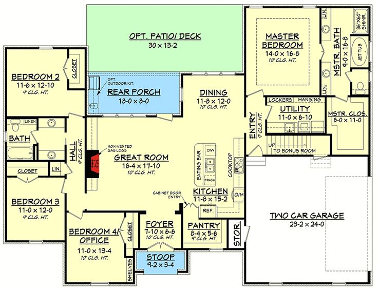 Flexible Southern Home Plan With Bonus Room   51735HZ | Acadian, French  Country, Southern