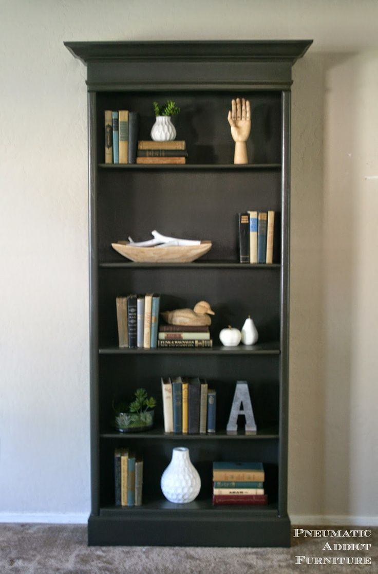 Painted Bookshelves Part - 35: How To Upgrade Boring Bookshelves With Some 2 X 4u0027s, Molding And Paint. Www
