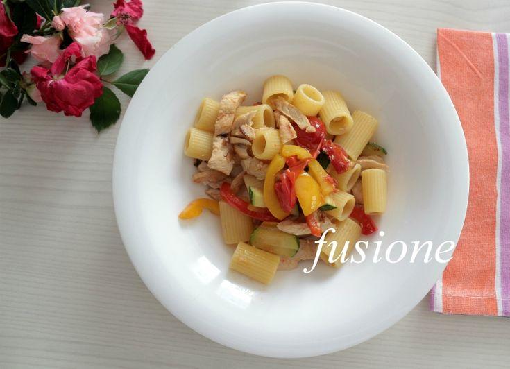 mezze+maniche+alle+verdure+e+tacchino