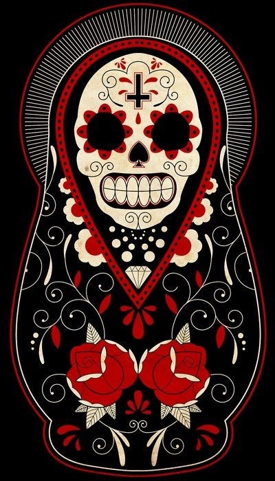 Dia De Los Muertos tattoo with the cross i want. i'd adjust some things but this might be my half sleeve