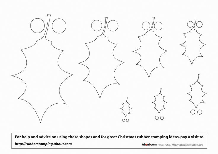 Free Printable Ornament Template | ... Christmas Templates - Make Foam Stamps Using These Festive Templates